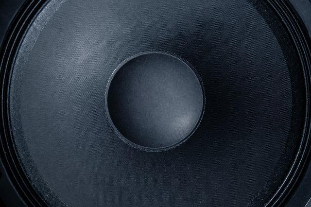 černý reproduktor