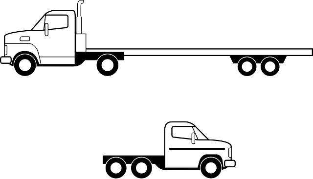 kamion s dloouhým návěsem, kamion s krátkým návěsem