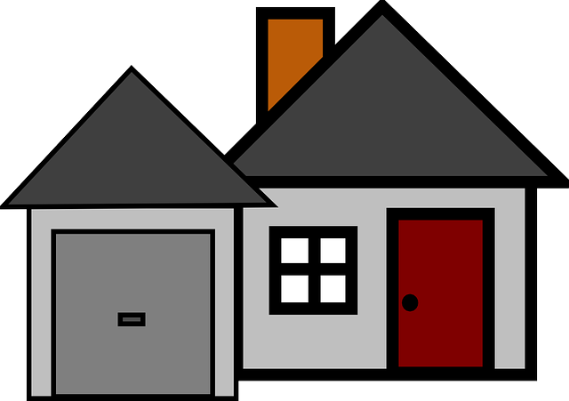 kreslený domek, okno, vrata, dveře