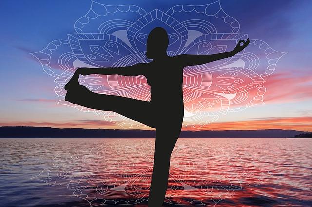 joga, moře, cvik