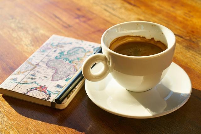 káva, zápisník
