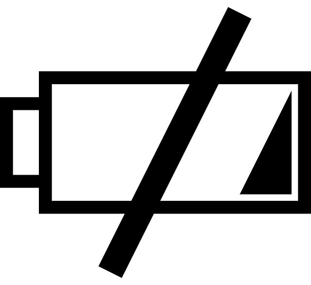 nízký stav baterie