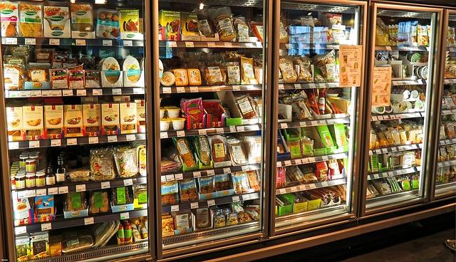 supermarket a lednička