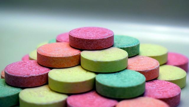 barevné tablety
