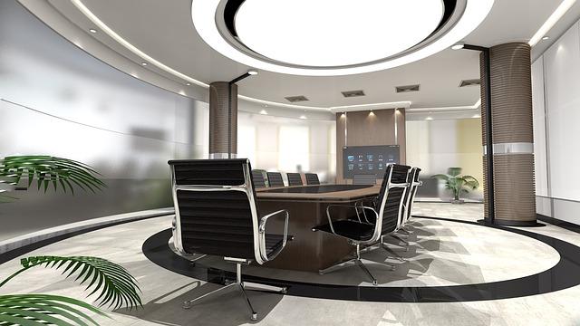 kulatý interiér