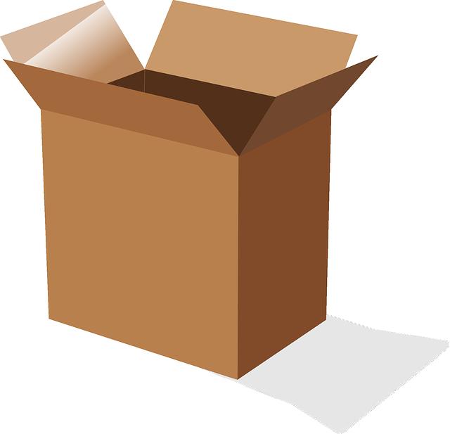 vysoká krabice